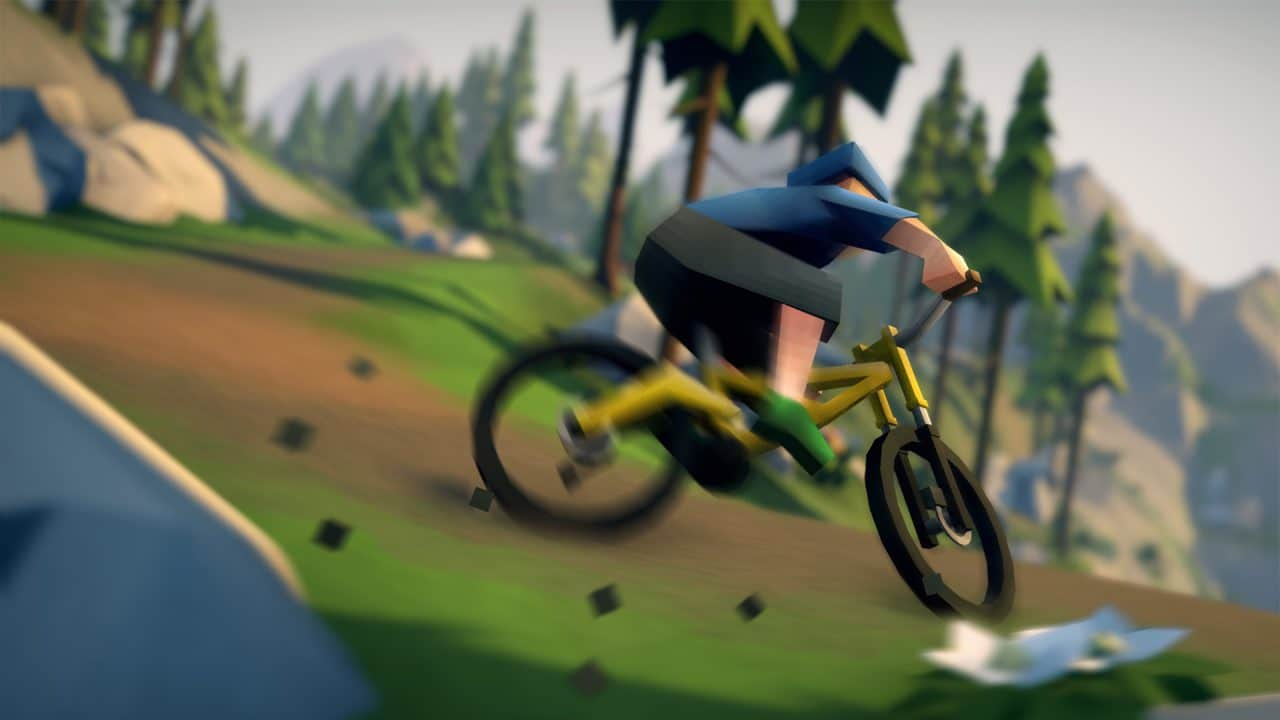 Lonely Mountain : Le VTT low-poly, effréné et joli